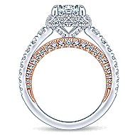 Gelato 18k White And Rose Gold Round Halo Engagement Ring angle 2