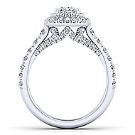 Ginger 14k White Gold Oval Double Halo Engagement Ring angle 2