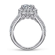 Gramercy 18k White Gold Round Halo Engagement Ring angle 2