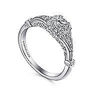 Hale 14k White Gold Round Halo Engagement Ring angle 3