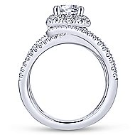 Halley 18k White Gold Round Halo Engagement Ring angle 2