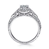 Halsey 14k White Gold Round Halo Engagement Ring angle 2