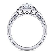 Halsey Platinum Oval Halo Engagement Ring angle 2