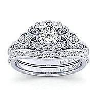 Halsey Platinum Oval Halo Engagement Ring angle 4