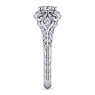 Halsey Platinum Oval Halo Engagement Ring angle 5