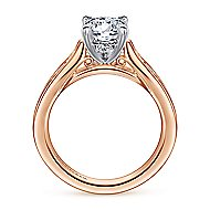 Hannah 14k White And Rose Gold Round Straight Engagement Ring angle 2