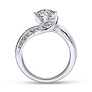 Hayley 14k White Gold Round Bypass Engagement Ring angle 2