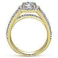 Hillary 14k Yellow Gold Round Halo Engagement Ring angle 2