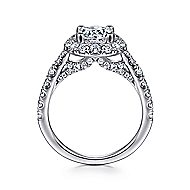 Honey 14k White Gold Round Halo Engagement Ring angle 2