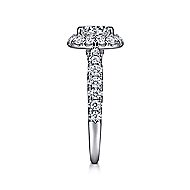 Honey 14k White Gold Round Halo Engagement Ring angle 5