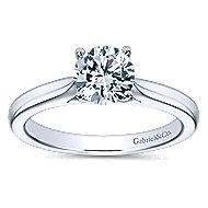 Honora 14k White Gold Round Solitaire Engagement Ring angle 5