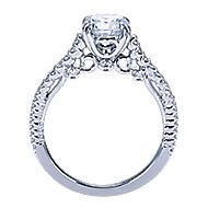 Ingrid 18k White Gold Round Straight Engagement Ring angle 2
