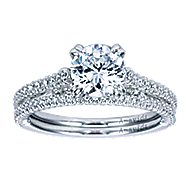 Ingrid 18k White Gold Round Straight Engagement Ring angle 4