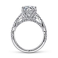 Jacinta 18k White Gold Round Twisted Engagement Ring angle 2