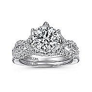 Jacinta 18k White Gold Round Twisted Engagement Ring angle 4