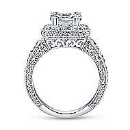 Jackie 18k White Gold Cushion Cut Halo Engagement Ring angle 2