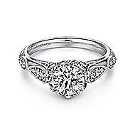 Jaelyn Platinum Round Straight Engagement Ring angle 1