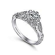 Jaelyn Platinum Round Straight Engagement Ring angle 3