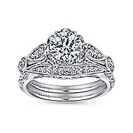 Jaelyn Platinum Round Straight Engagement Ring angle 4