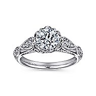 Jaelyn Platinum Round Straight Engagement Ring angle 5