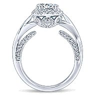 Jakarta 14k White Gold Round Halo Engagement Ring angle 2
