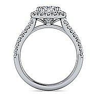 James Platinum Cushion Cut Halo Engagement Ring angle 2