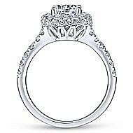 Janay 18k White Gold Round Double Halo Engagement Ring angle 2