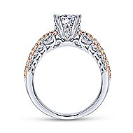 Jay 18k White And Rose Gold Round Straight Engagement Ring angle 2