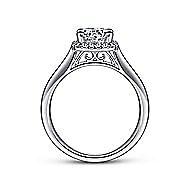 Jenna 14k White Gold Round Halo Engagement Ring angle 2