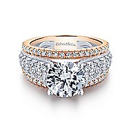 Jessa 18k White And Rose Gold Round Straight Engagement Ring angle 1