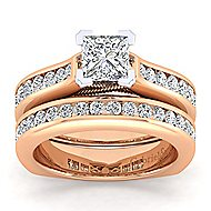 Jessica 14k White And Rose Gold Pear Shape Straight Engagement Ring angle 4