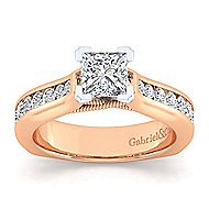 Jessica 14k White And Rose Gold Pear Shape Straight Engagement Ring angle 5