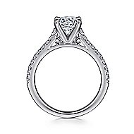 Joanna 14k White Gold Round Straight Engagement Ring angle 2