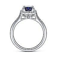 Jordana 14k White Gold Oval Halo Engagement Ring