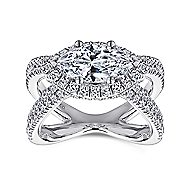 Josefina 18k White Gold Marquise  Halo Engagement Ring angle 5