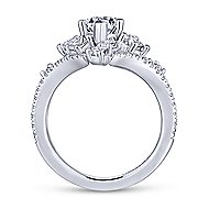 Jules 18k White Gold Marquise  Split Shank Engagement Ring