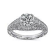 Kali Platinum Round Straight Engagement Ring angle 5