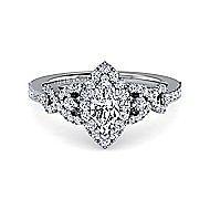 Kalinda Platinum Marquise  Halo Engagement Ring angle 1