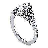 Kalinda Platinum Marquise  Halo Engagement Ring angle 3