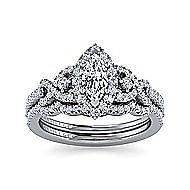 Kalinda Platinum Marquise  Halo Engagement Ring angle 4