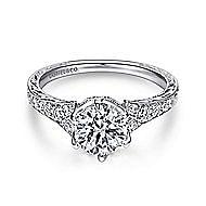 Kearney Platinum Round Straight Engagement Ring angle 1