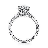 Kearney Platinum Round Straight Engagement Ring angle 2