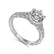 Kearney Platinum Round Straight Engagement Ring angle 3