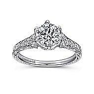 Kearney Platinum Round Straight Engagement Ring angle 5