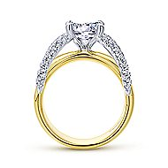 Keiko 18k Yellow And White Gold Round Split Shank Engagement Ring angle 2