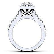 Kelsey Platinum Princess Cut Halo Engagement Ring angle 2