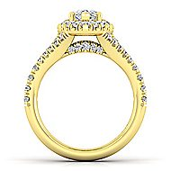 Kennedy 14k Yellow Gold Pear Shape Halo Engagement Ring angle 2