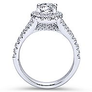 Kennedy Platinum Oval Halo Engagement Ring angle 2