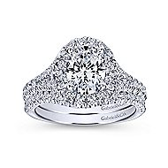 Kennedy Platinum Oval Halo Engagement Ring angle 4