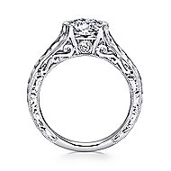 Kiera 14k White Gold Round Solitaire Engagement Ring angle 2